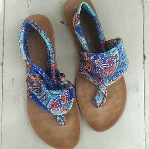 Dirty Laundry Sling Back Cloth Sandals